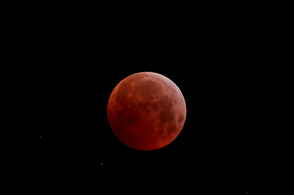 Mondfinsternis 21. Januar 2019 über dem Lesachtal